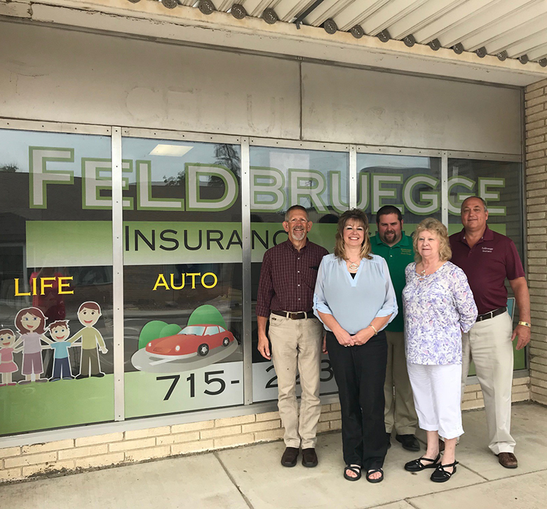 Feldbruegge Insurance Agency team and building